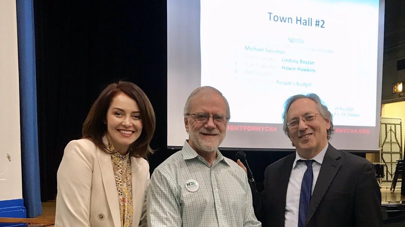 Lindsey Boylan, Howie Hawkins, and Michael Sussman